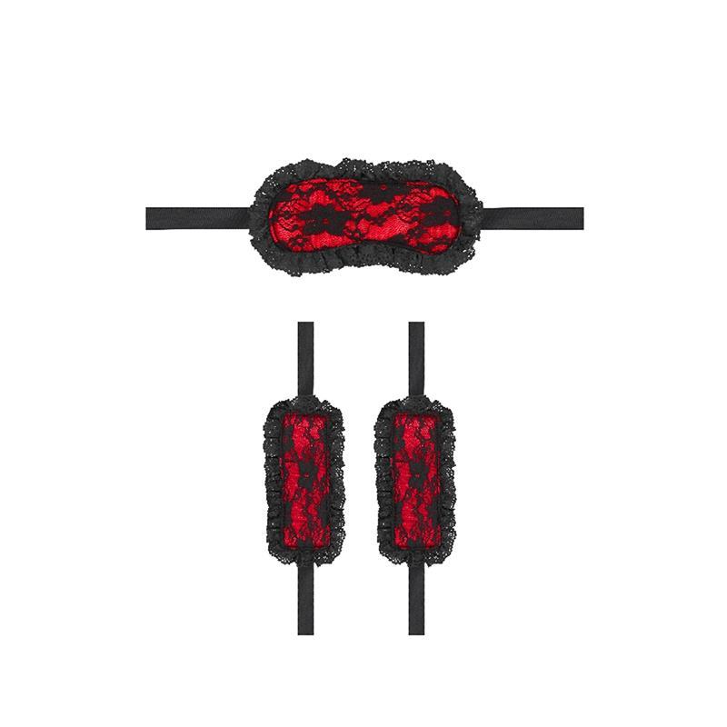 Kit de Bondage para Principiantes N7 Rojo de OUCH! #satisfactoys