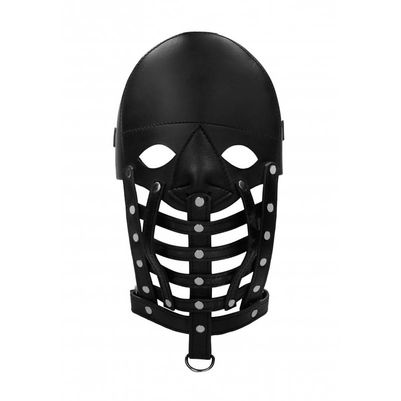 Leather Male Mask Black