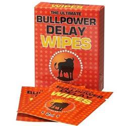 Bull Power Wipes Delay Sachets (6x2ml)(en/de/fr/es