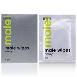 MALE Cobeco Wipes Delay (6x2.5ml) (en/de/fr/es/it/
