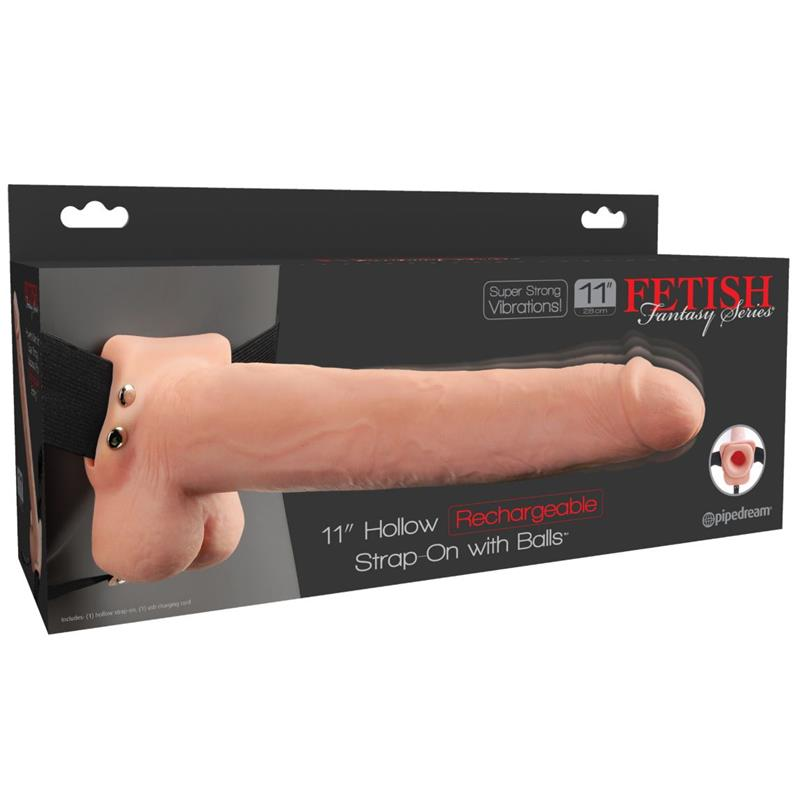 Fetish Fantasy 11 Hollow Rechargeable Strap-On wi