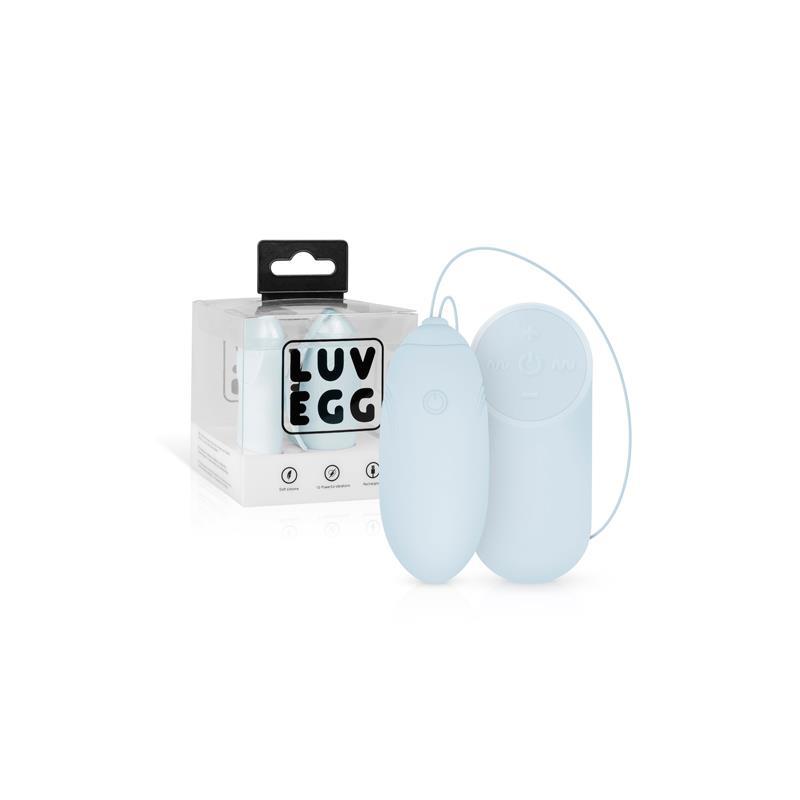 Huevo Vibrador Control Remoto USB Azul de LUV EGG #satisfactoys