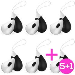 Pack 5+1 Wireless Vibrating Egg Drops Black