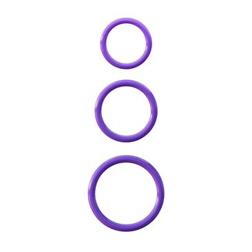 Fantasy C-Ringz  Silicone 3-Ring Stamina Set-Purpl