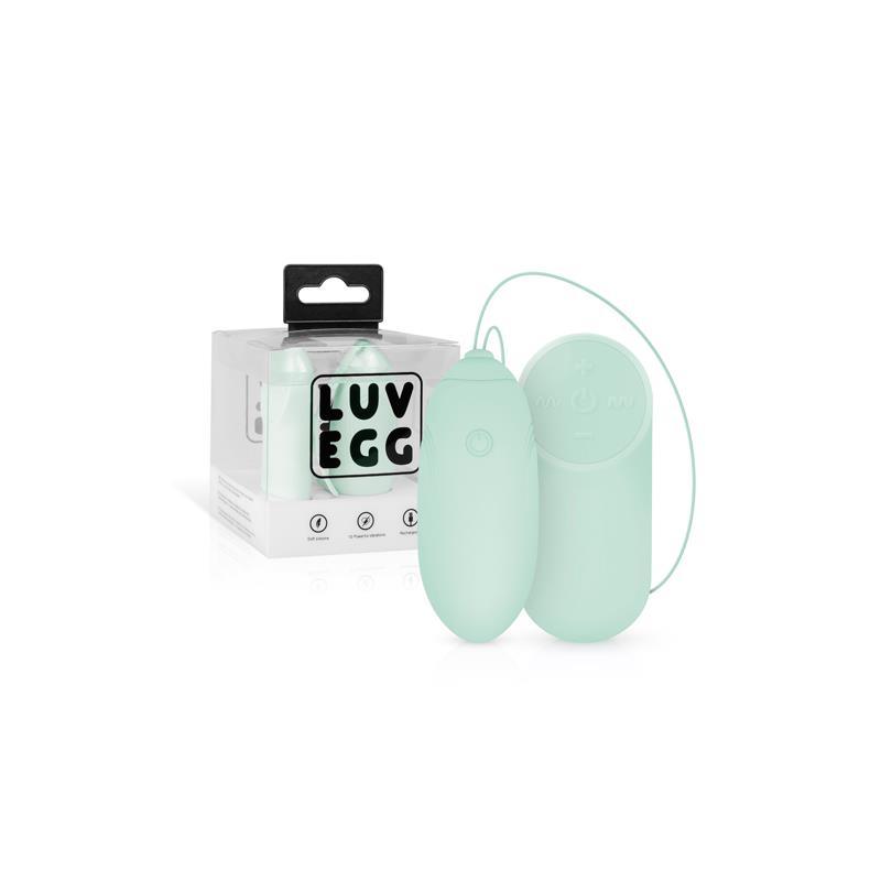 Huevo Vibrador Control Remoto USB Verde de LUV EGG #satisfactoys