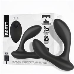 Brett Remote Prostate Massager USB Silicone Black