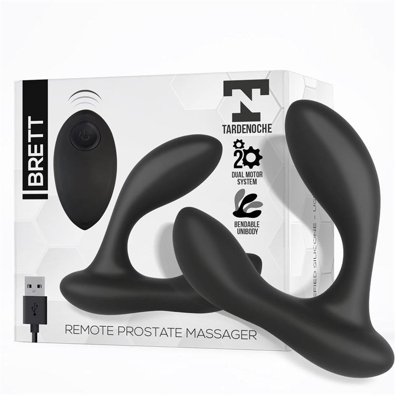 Brett Masajeador Prostático Control Remoto USB Silicona Líquida de TARDENOCHE #satisfactoys