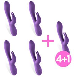 Pack 4+1 Unibody Vibrator Mauve Liquefied Purple