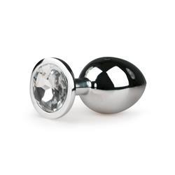 EasyToys Metal Butt Plug No. 2 - Silver/Clear