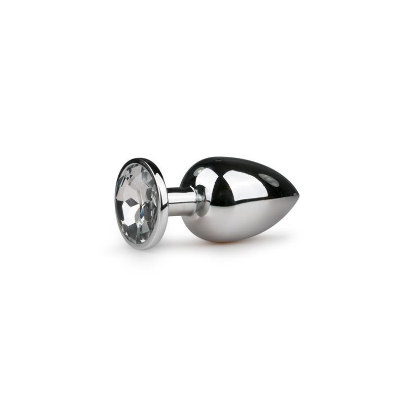 Metal Butt Plug No. 6 - Silver/Clear