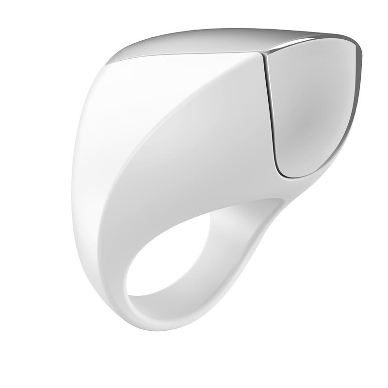 OVO A1 Anillo Vibrador Blanco Cromado de OVO #satisfactoys