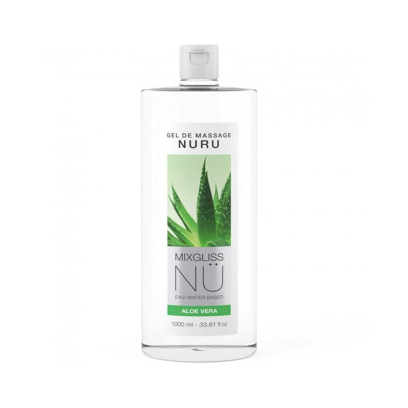 Lubricante Nu Aloe Vera 1000 ml de MIXGLISS #satisfactoys