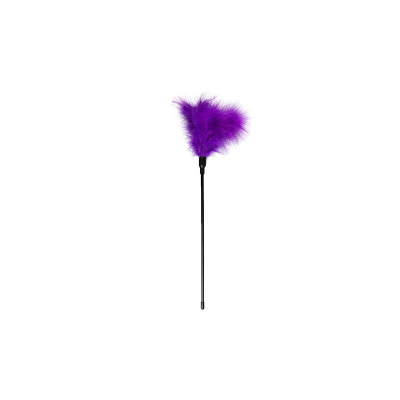 Plumas Estimuladoras con Mango Largo - Púrpura de EASYTOYS #satisfactoys