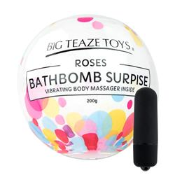 Bath Bomb Surprise Rose & Vibrating Body Massager
