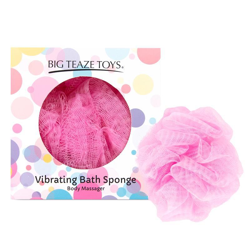 Bath Sponge Vibrating Pink