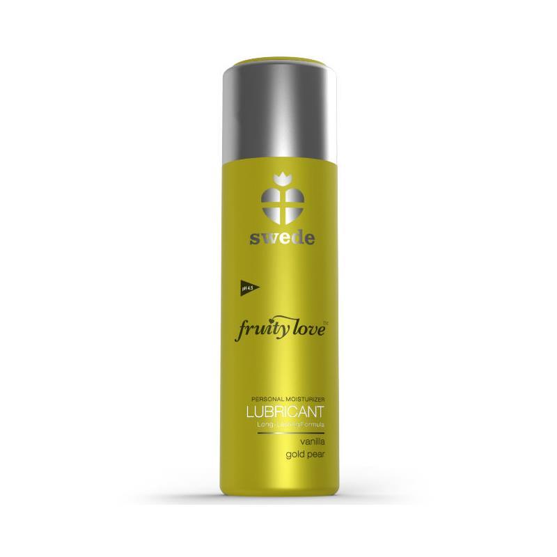 Fruity Love Lubricante Vanilla y Pera Gold 50 ml de SWEDE #satisfactoys