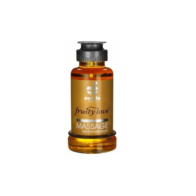Fruity Love Massage Oil Vanilla and Cinnamon Aroma 100 ml