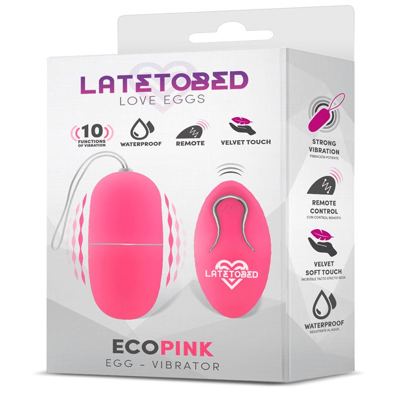 Vibrační růžové silikonové vajíčko vodotěsné s dálkovým ovládáním  Ecopink Vibrating Egg