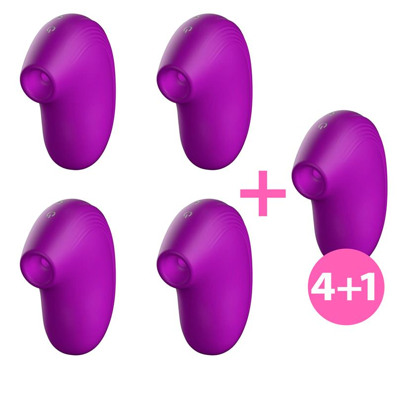 Pack 4+1 Cult Succionador Clitoris Ondas Energéticas New Generation Purpura de W #satisfactoys