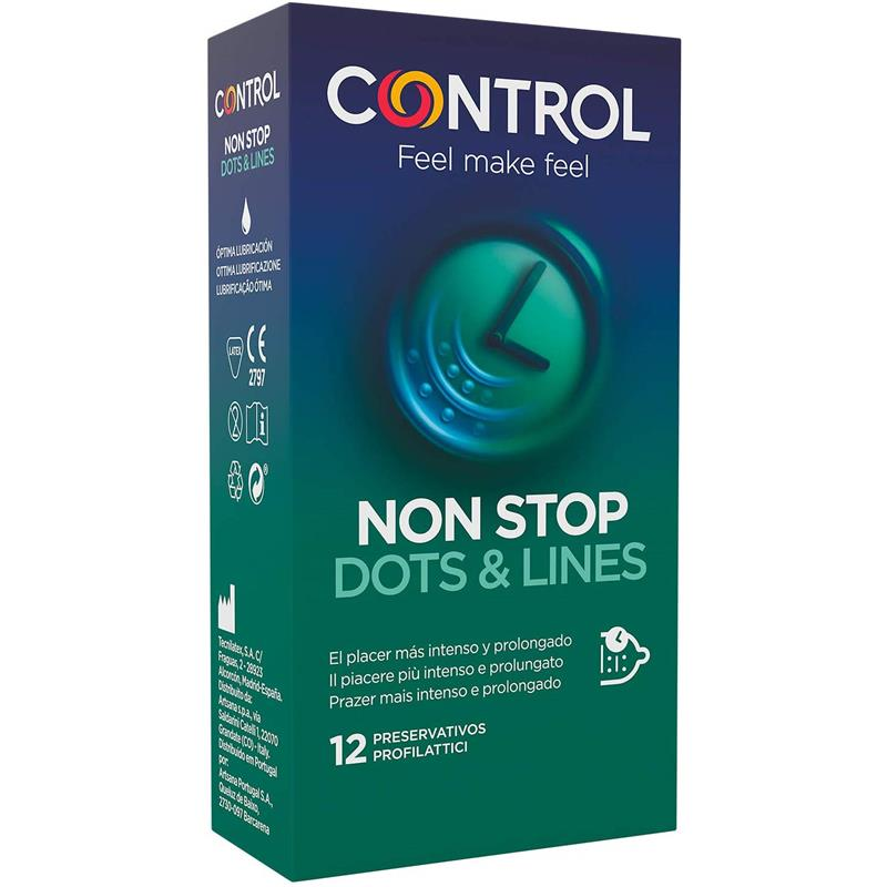 Preservativos Non Stop 12 unidades de CONTROL #satisfactoys