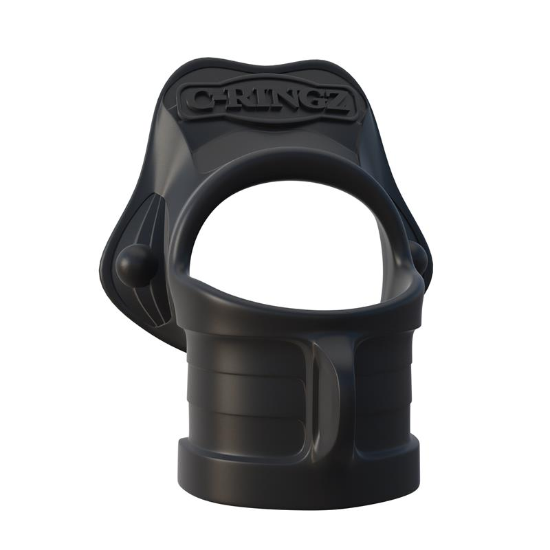 Fantasy C-Ringz Rock Hard Ring & Ball Stretcher Black
