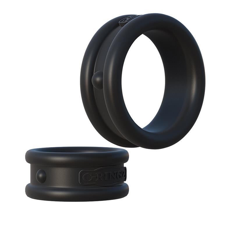 Fantasy C-Ringz  Max-Width Silicone Rings-Black