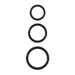 Fantasy C-Ringz  Silicone 3-Ring Stamina Set-Black