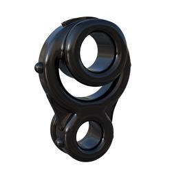 Fantasy C-Ringz Ironman Triple Ring-Black