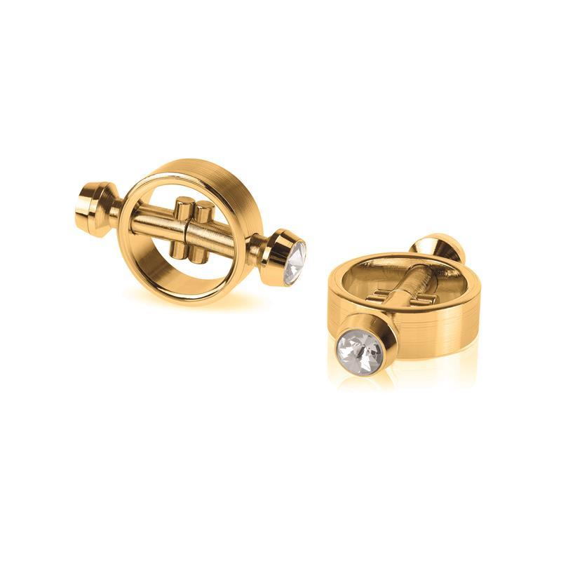 Fetish Fantasy Gold Pinzas para Pezones Magnéticas Doradas de FETISH FANTASY GOLD #satisfactoys
