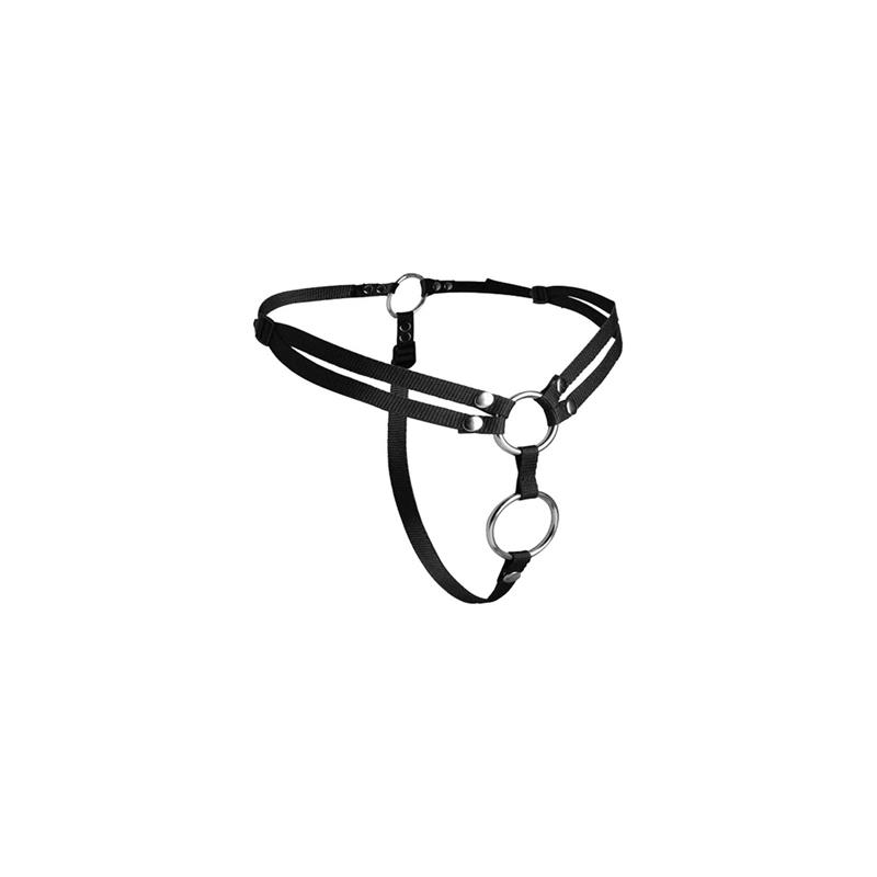 Unity Double Penetration Strap On Harness Black
