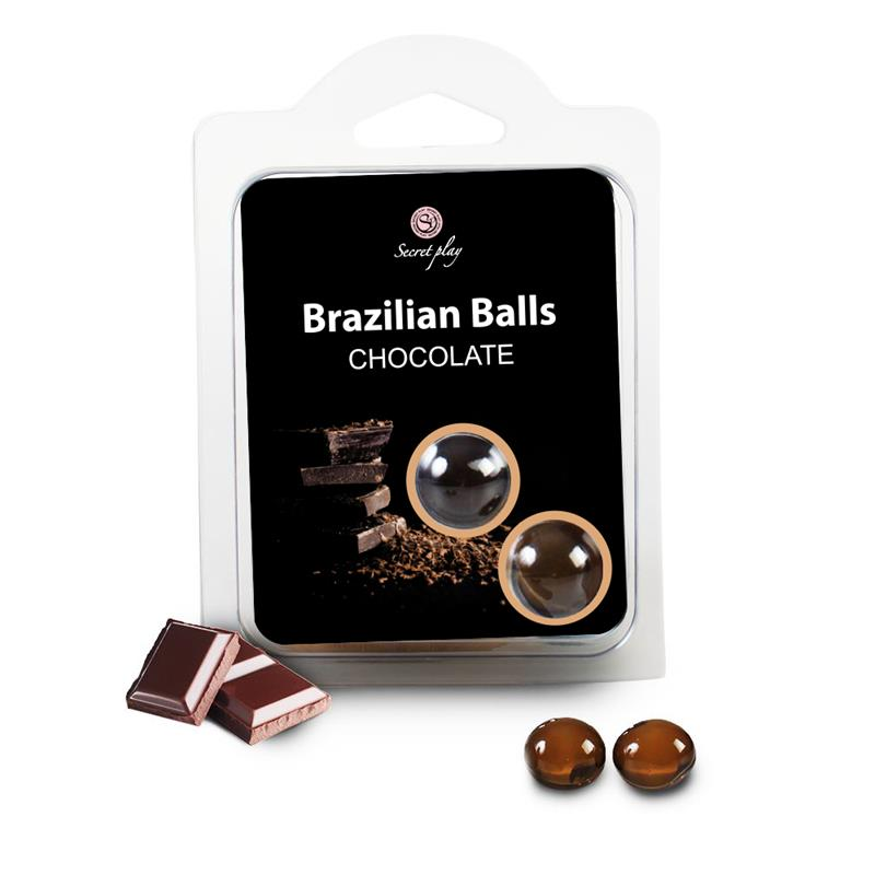 Set 2 Brazilian Balls Aroma a Chocolate de SECRET PLAY #satisfactoys