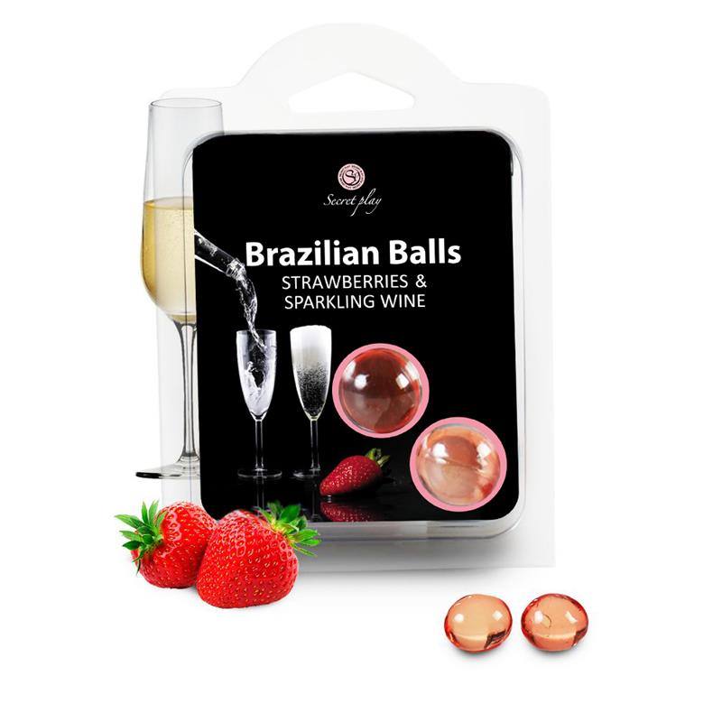 Secret Play 2 strawberry and champagne brazilian balls set