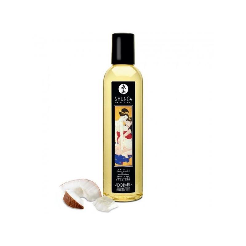 Aceite de Masaje Adorable Aroma Coco 250 ml de SHUNGA #satisfactoys