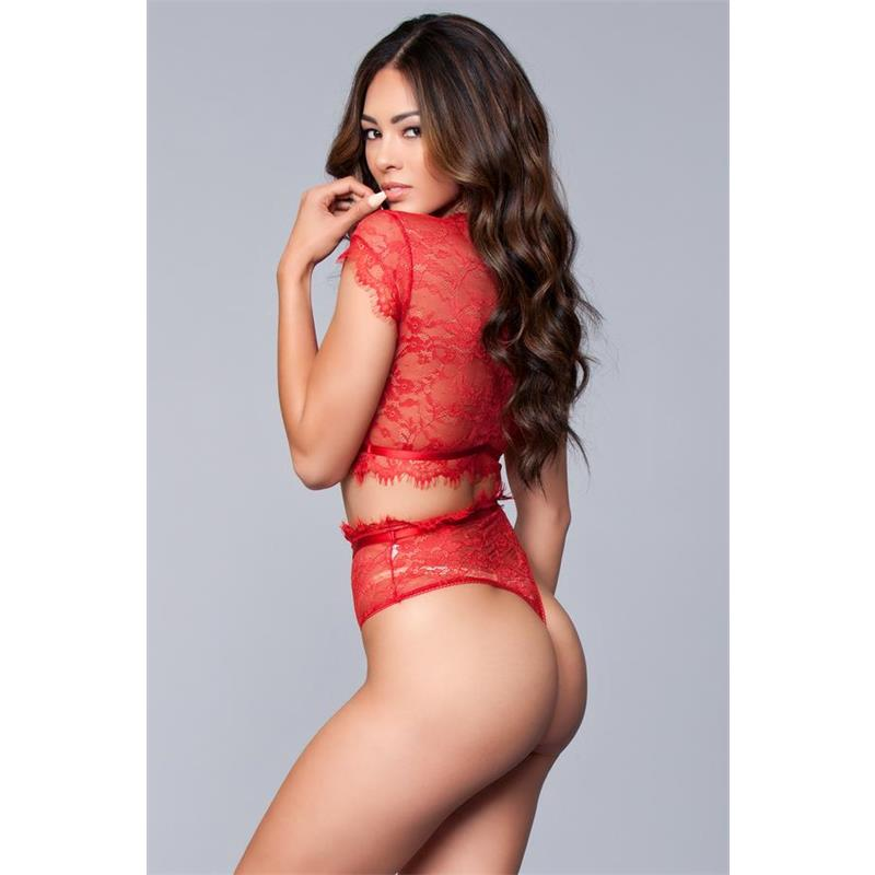 Kayla 2 Pieces Set Red Velikost: S