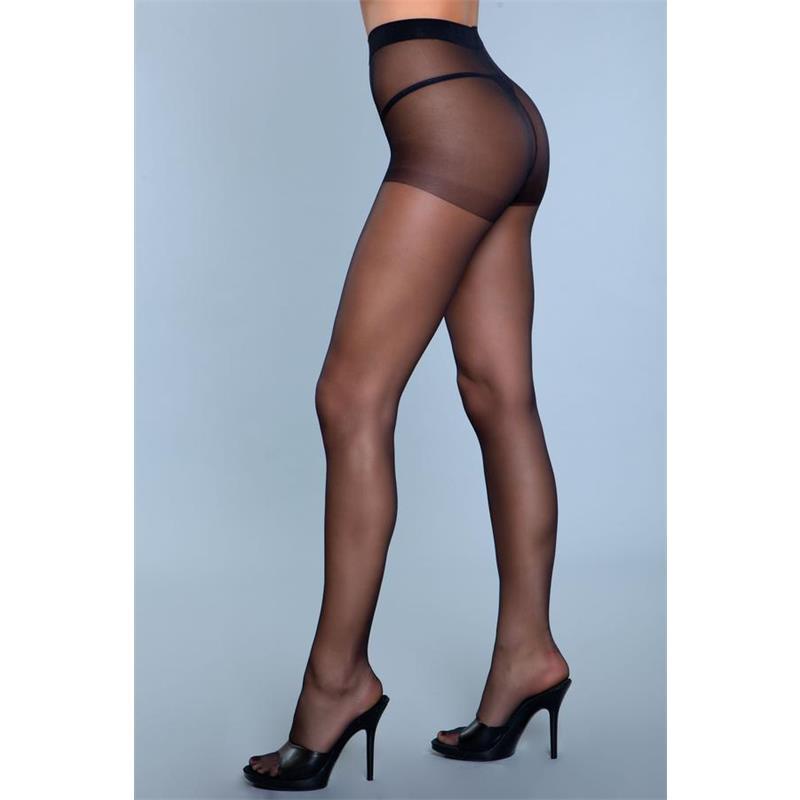 Skin To Skin vysoké pasu Pantyhose Black