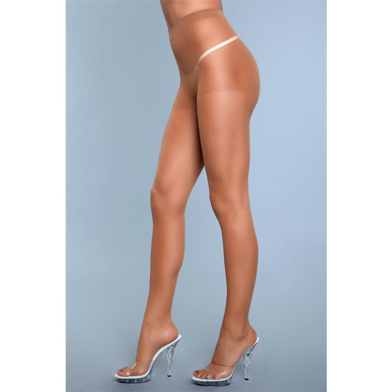 Skin To Skin vysoké pasu Pantyhose Beige