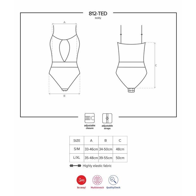 812-TED-1 Body s bílými perlami Velikost: S / M