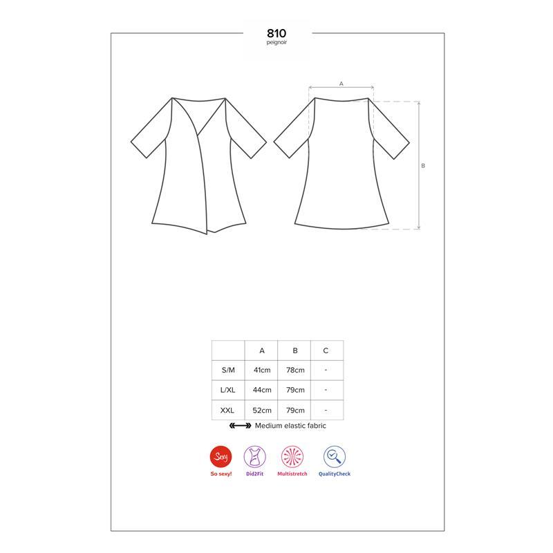 810-PEI 1 Kimono s krajkou černá Velikost: S / M