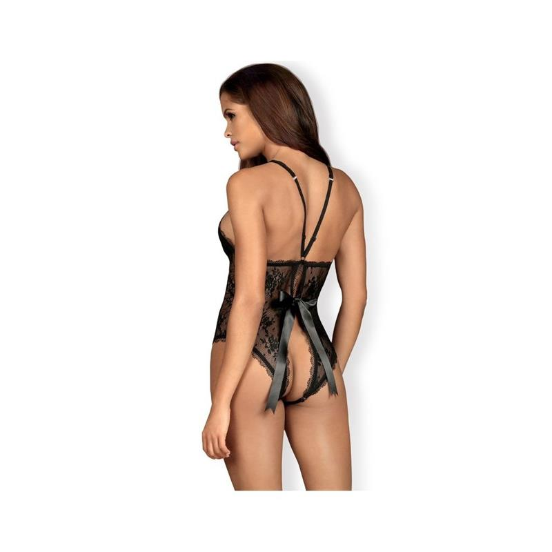 Behindy Crotchless Teddy Black Velikost: S / M