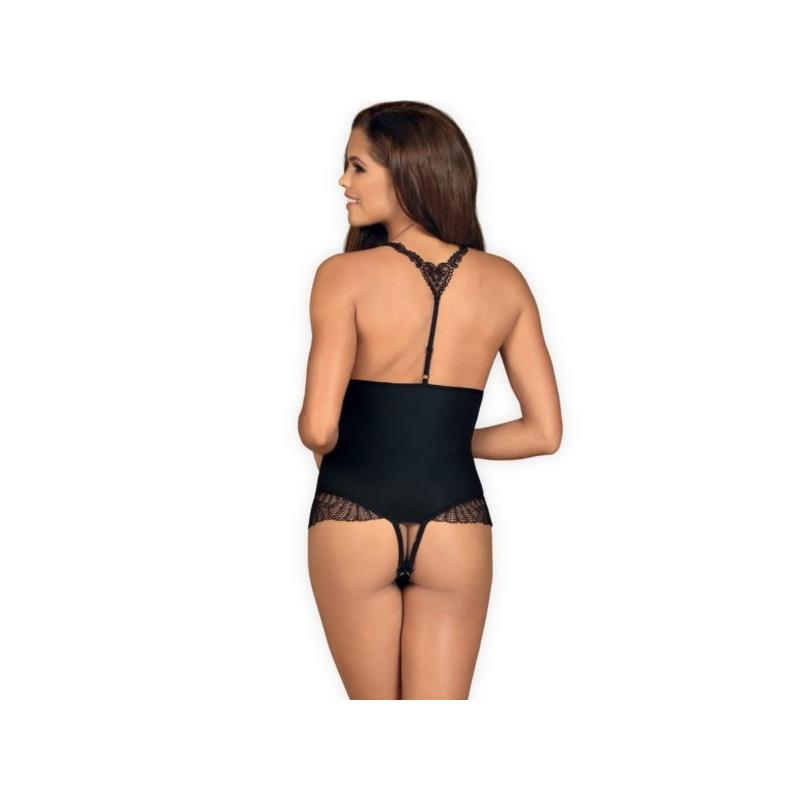 Chiccanta Crotchless Teddy Black Velikost: S / M