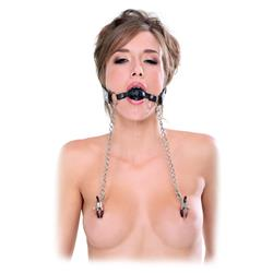 Fetish Fantasy Extreme  Deluxe Ball Gag & Nipple C