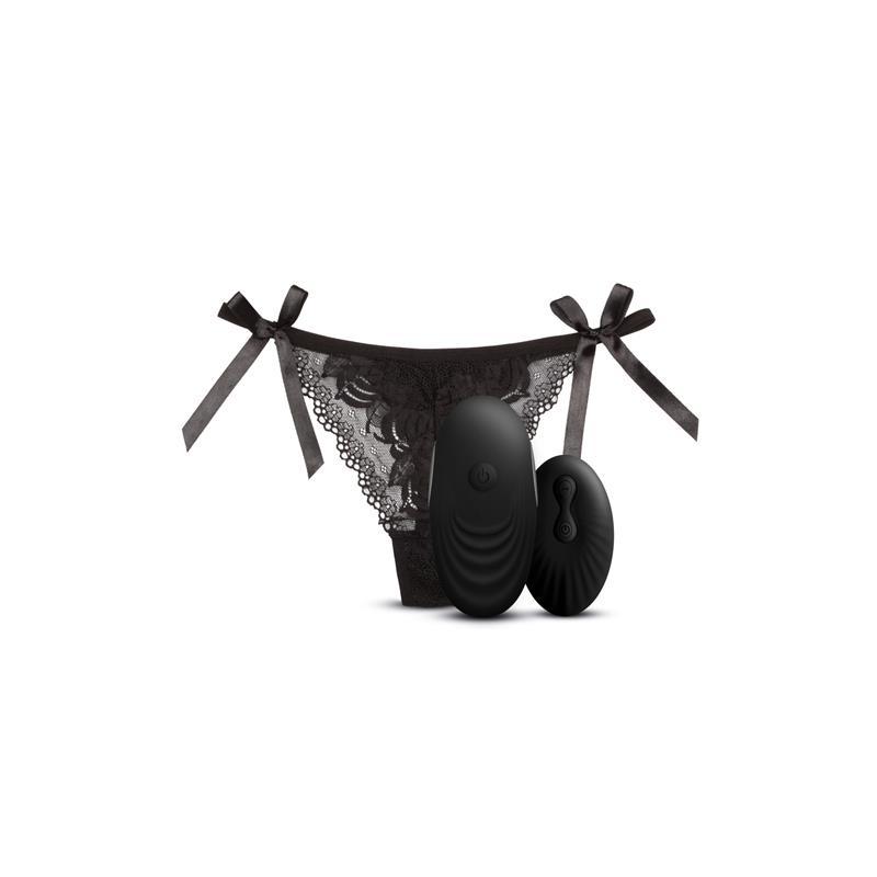 Tanga con Estimulador y Control Remoto No. 3 Negro de SWAY VIBES #satisfactoys