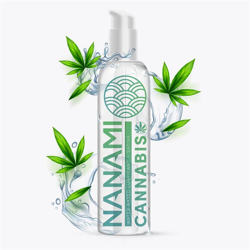 Lubricante a Base de Agua Cannabis 150 ml de NANAMI #satisfactoys