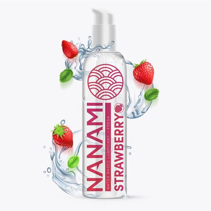 Lubricante a Base de Agua Fresa 150 ml de NANAMI #satisfactoys