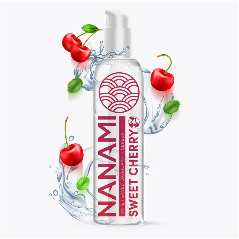Lubricante a Base de Agua Sweet Cherry 150 ml de NANAMI #satisfactoys