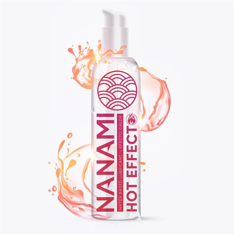 Lubricante a Base de Agua Efecto Calor 150 ml de NANAMI #satisfactoys