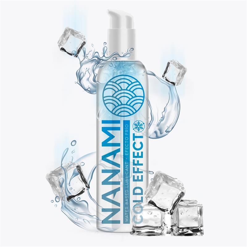 Lubricante a Base de Agua Efecto Frio 150 ml de NANAMI #satisfactoys