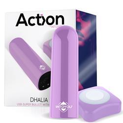 Dhalia USB Super Bullet with Remote Purple