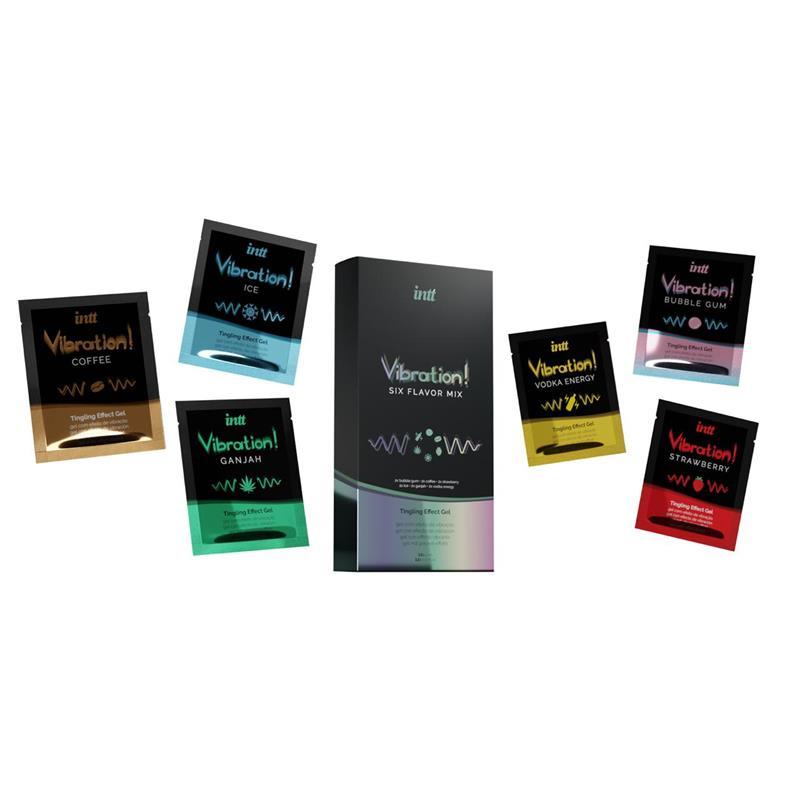 Mix Vibration Six Flavor Pack de 6 Monodosis de INTT #satisfactoys