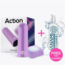 Dhalia USB Super Bullet with Remote Purple